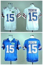 Wholesale Top Quality New Cheap Tim Tebow Florida Gators Tim Tebow Jersey Blue White NCAA College football jerseys Mix Order