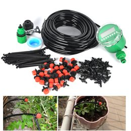 Wholesale 25m Diy Drip Irrigation System Kit Plant Automatic Self Watering Garden Hose Arrosage Automatique Micro Drip Garden Watering