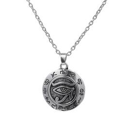 Wholesale Egyptian Eye of Ra Horus Vintage Silver Charm Necklace Pendant Lariat Jewelry