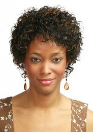 New Popular hair Women's ladies wig Natural Hair short curly dark brown full wigs for black women