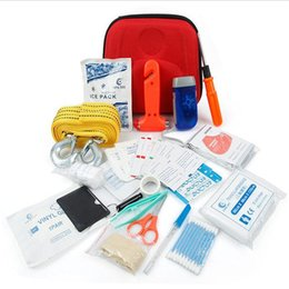 Wholesale First Aid Kit Safety Driving Travel Equipment Necessary Emergency Kit Rescue Package Sets Outdoor Activities Necessary