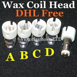 Cheapest Dual Wax Coils dual coils Ceramic Quartz Cotton Quartz Pancake Coil Head for glass globe Vapor glass globe bulb ecigs