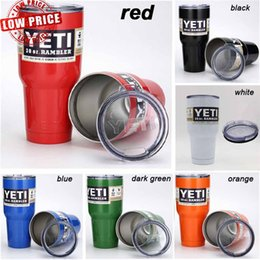 Wholesale 9 Colors YETI Tumbler Rambler Cups OZ Double Stainless Steel Tumbler Tea Cups And Mugs Yeti Cup Cooler Pink Travel Mug