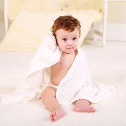 Wholesale New Top Quality Baby Solid Color Bath Towel Bamboo Anti bacterial White Breathable Infantees Baby Shower Towel cm cm