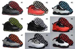 Acheter en ligne Air en cuir libre-Livraison gratuite Enfants Air Retro10 Basketball Sports Chaussures Enfants en cuir en plein air Athlétisme Basketball Sneakers Chaussures Taille 28-35