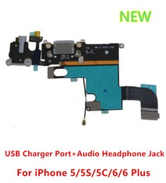 Wholesale Original Headphone Audio Jack Dock Connector usb Charger Charging Data Port Flex Cable for iphone g s c PLUS
