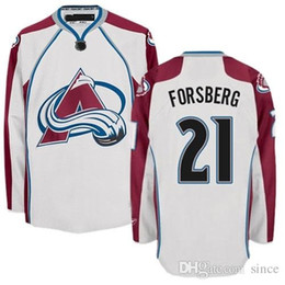 2016 New Colorado Avalanche Ice Hockey Jerseys 21 Peter FORSBERG Jersey Home White Embroidery Logos Customized any Name And Number