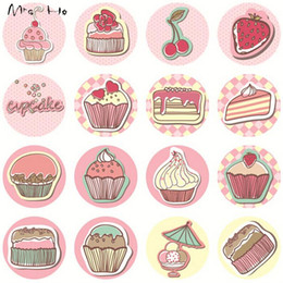 Caxia Paper Sticker Label 320pcs lot Cupcake Pattern Cupcake Decoration Adhesive Label Sticker Packaging Label Korean Hot PP480