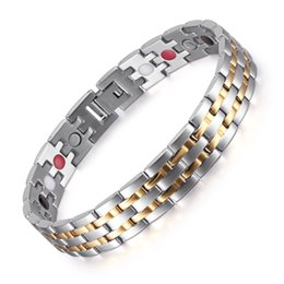 Stainless Steel Bracelet Anti Radiation Healthy Bracelet Pain Relieve Magnetic Bracelets Men Anklets Therapy Named An Armband