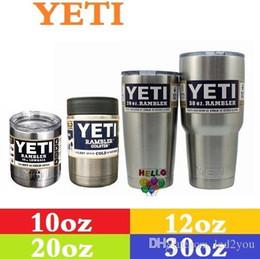 Wholesale Outdoor Hydration Gear YETI oz oz oz oz Cup Cooler YETI Rambler Tumbler For Travel Vehicle Beer YETI Mug Tumblerful Bilayer