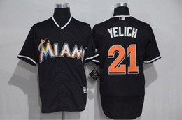 Christian Yelich Miami Marlins #21 Black Stitched Jersey Mens M-3XL NEW Material Best Quality Seattle Mariners Shirts Wholesale from China