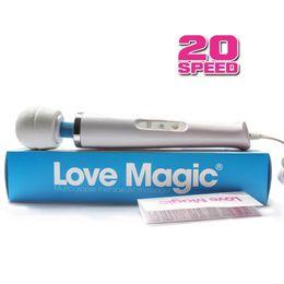 new 20 speed power AV vibrator, portable massage stick, body massager, magic wand vibrator, G-spot vibrator, female sex toys sex product