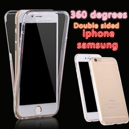 Wholesale 360 Degree Full Body Case iphone Front Back Cover Soft TPU Touch Clear Protector for iPhone S plus S SE Samsung S7 S6 Edge Plus A8 G530