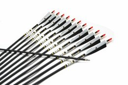 Wholesale 12Pcs quot Spine Archery Carbon Arrow For Shooting Recurve Bow lbs