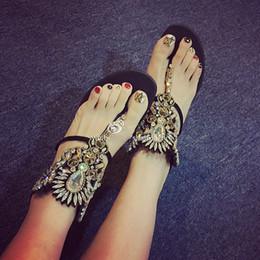 2016 New Fashion Summer Women Flat Heel Sandal Good Quality Breathable Zip Sandal Black Crystal Shoe