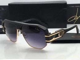 Wholesale Cool Men ca zal Polarized Sunglasses Black Gold Frame Gray gradient Lens NEW with Case