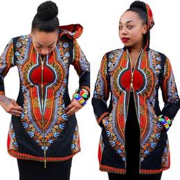 Wholesale Short Skirt Dress For Work - Africa Totems Short Skirt Hooded Black Dashiki Jacket Maxi Beach Dress Long Sleeves Work Summer Woman For Womens Bodycon Dresses