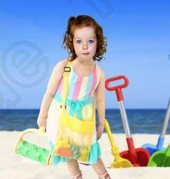 2017 stockage pour les jouets Jouets de plage pour enfants reçoivent des sacs de sable sacs de sable à l'écart de tous les Sand Sandpit enfants de stockage Shell Net Sand Away sacs de plage de poche CCA3796 200pcs stockage pour les jouets à vendre