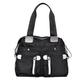 Wholesale Ladies Waterproof Messenger Bag - Women Handbag Waterproof Nylon Shoulder Women Messenger Bags Casual Cross Body Beach Bag Black Ladies Big Tote 33*13*29 CM
