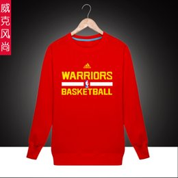 Wholesale Sports Golden State Basketball Warriors Curry Spring Autumn Cheap Men Crewneck Pullover Sweatshirt Best Online Sale