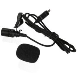 Usb gopro en Línea-A estrenar Pro Mini USB micrófono externo con cuello Clip Negro para GoPro Hero 3 3+ 4