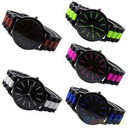 Women's Men's Simple Silicone Band Jelly Gel Quartz Analog Sports Wrist Watch