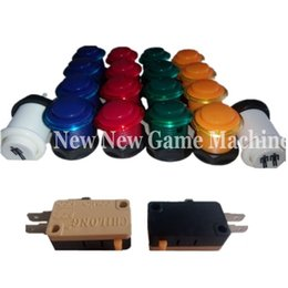 Wholesale High Quality Amusement Games Machines Parts Accessory Arcade Kits Translucent Lipped Push Button With XPlayer Buttons