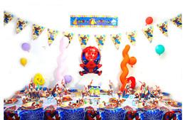 Wholesale Superhero Tableware Comic Superhero Pow Kaboom Birthday Party Tableware Balloons Decorations Party Supplies Table Decorations For Weddings