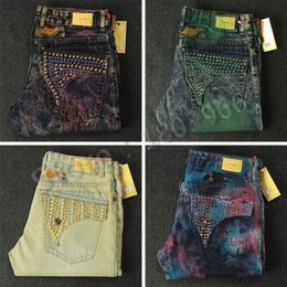 Wholesale 2016 new denim men ripped famous brand robins jeans men big size men s biker robin s jeans with keychain spark stone male