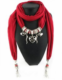 Newest Cheap Fashion Women Valentine Scarf Direct Factory Heart Charms Pendant Tassels Scarves Women Charms Scarves Shawl