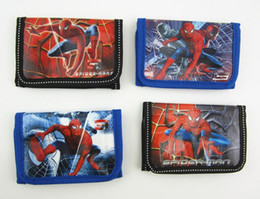 new 12 pieces mixed styles kids spiderman super hero pvc coin purses wallets children's party gift wholesale lots