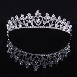 Hot Elegant New Stylish Pretty Silver Crystal Rhinestone Wedding Bridal Crown Tiara Hair Jewelry Women Party