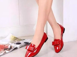 cattle leather shoes exclusive top bow Philippines shoes