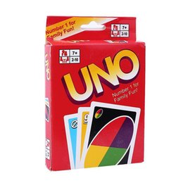 Wholesale UNO poker card standard edition family fun entermainment board game Kids funny Puzzle game UNO card board games
