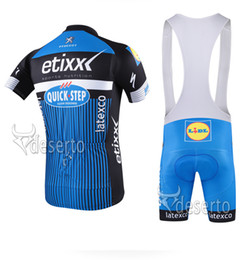 3 color 2016 Etixx Quick step Cycling Jerseys short Jersey Bicycle Breathable cycling clothes Bicycle Clothing Lycra GEL pad summer MTB Bike
