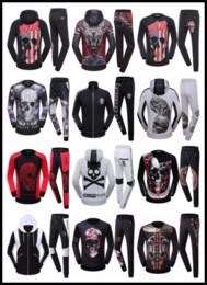 Wholesale PP Tracksuit Set Sweat Suit Men Casual Sports Philipp Man Tracksuit Jacket Sportswear Sweatshirts Jogging Hooded Coats Hoodies Boy Plein