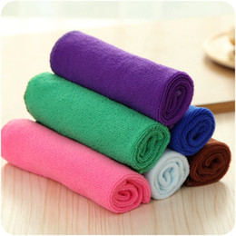 Wholesale New Bamboo Fiber Hand Cleaning Kithchen Dish Cloth Dishcloths Washing Cloth Cleaning Towel Scouring pad not drop wool cm