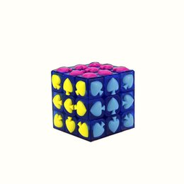 Wholesale 3x3 Magic Cube Spade Cube Puzzle Magic Game Toy Adult and Children Educational Puzzle Toys x3x3 Magic Square kids gifts P C