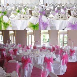 2017 arcs décorations mariage Décoration président 25pcs Organza Bow Jupettes Partie d'anniversaire de mariage arcs décorations mariage ventes
