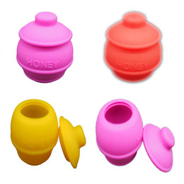 Wholesale Non stick Platinum Cured Silicone Honeypot Silicone Wax Jars Container Oil Slicks Take The Icky Out Of Sticky