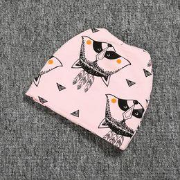 Pink Fox baby hats caps ,Animal print children's beanie ,baby shower gift ,newsboy hat ,winter warm baby hat