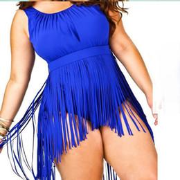Summer Plus Size Women Bathing Suit Tassels Push Up Bikini Plus Size Padded Boho Fringe Swimsuit Covers Up Fashion Fat Ladies Jumpsuit
