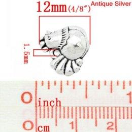 Promotion boutiques de charme Charm Pendants Poulet / Coq Animal Antique Argent 13x12mm, 50PCs (K03148) Pendentif pendentif boutique pendentif 8seasons
