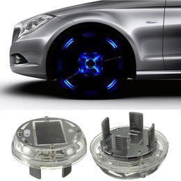 Wholesale New Modes pc LED Car Auto Solar Energy Flash Wheel Tire Rim Light Lamp Decoration