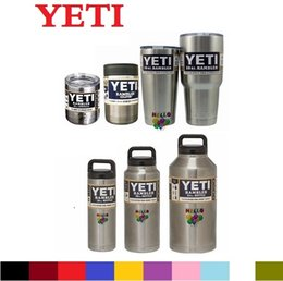 Wholesale Yeti oz oz oz oz oz oz Rambler Tumbler Bilayer Insulation Cups Cars Beer Mug Large Capacity Mug Tumblerful DHL