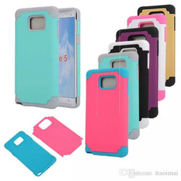 For Note 5 Case Hybrid 2 in 1 Slim Tough Armor Cases TPU+PC Cover Shockproof for Samsung Galaxy S6 iphone 6 plus DHL