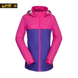 2017 dame ville Gros-WHS New Windbreaker femmes Sport Jacket ville manteau de randonnée imperméable Hot Sale Lady Coat Fashion Style promotion dame ville