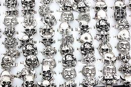 wholesale bulk lots 30pcs mixed styles men's plating vintage retro punk rock jewelry rings brand new
