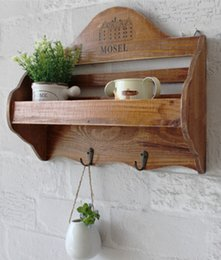 Wholesale Solid Wooden Hanging Storage Home Decoration CM