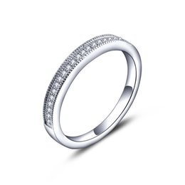 Wholesale Store Wedding Ring Eternity Ring Solid Sterling Silver Engagement Rings for Women Wedding Bands Promise Mother s day gift DL40200A